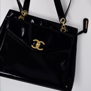 Authentic vintage Chanel leather bag